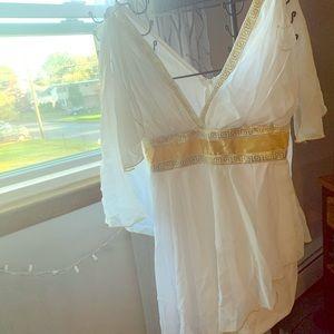 Greek Goddess White and good dress
